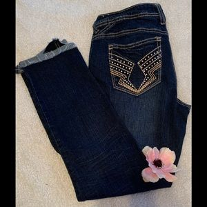 Denim - Women's size 9/10 distressed what about me jeans